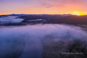 Tarkine sunrise, Pieman River