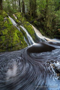 secret tarkine waterfall long exposure