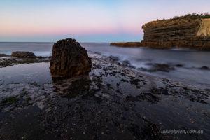 Fossil Island dusk seascape, Tasman Peninsula
