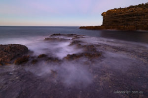 Fossil Island long exposure seascape photography at dusk