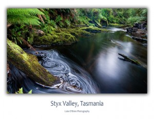 Postcards of Tasmania - Styx Valley