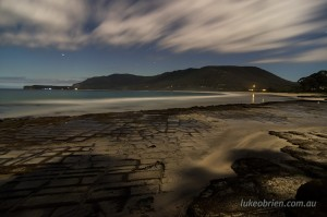 Night photography at Tasmanias Eaglehawk Neck