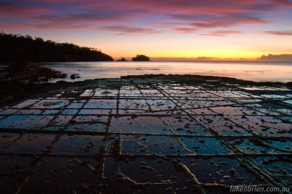 Sunrise, Tessellated Pavement at Eaglehawk Neck