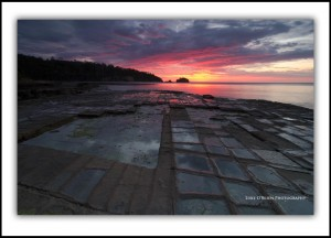 Sunrise, Tessellated Pavement Tasmania
