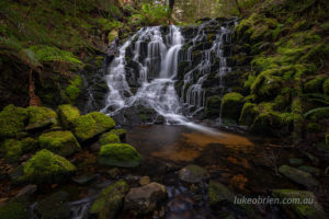 Upper Quaile Falls in Middlesex, Tasmania